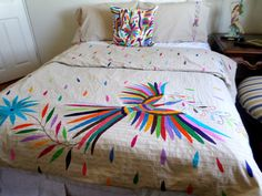 Magnificent Otomi Duvet for Queen or King size bed.