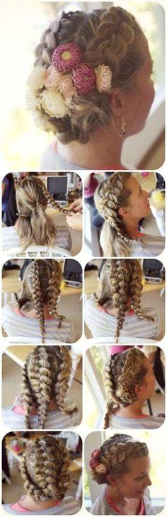 DIY Wedding Hair : DIY  Bride Braids,