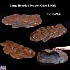 Large Cave For Adult Bearded Dragons, Reptiles, Geckos, Snakes, Lizards etc Only £44.00 - Bespoke only 1 available http://www.ebay.co.uk/itm/171892601715  #beardeddragon #reptile #Pogona #products #business #gecko #leopardgecko #chillout #pet #handmade #wimblettproducts #eublepharismacularius #cornsnake #lizards #ebay #customers #forsale