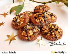 Florentýnky recept - TopRecepty.cz Christmas Candy, Christmas Baking, Christmas Cookies, Czech Recipes, Ethnic Recipes, Baked Goods, Baking Recipes, Stuffed Mushrooms, Food And Drink