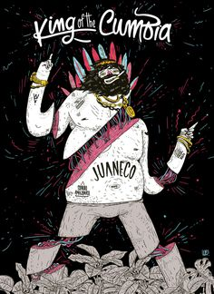 KING OF THE CUMBIA by Lucas We, via Behance