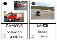 Pompiers Reggio, Maths, Transportation, School, Inspiration, Name Place Cards, Montessori Activities, Fire Department, Spelling