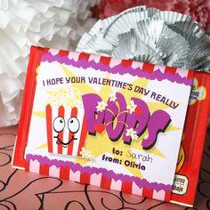 Printable DIY Valentine Popcorn Sleeve by cardvarkdesigns on Etsy, $6.50