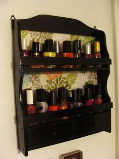 An old spice rack turned into a nail polish holder!