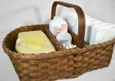 BASKET PATTERN Lucy Divided Diaper Caddy by Bright Expectations
