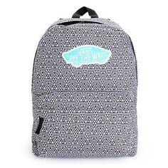 Vans Realm Black & White Geo Print Backpack