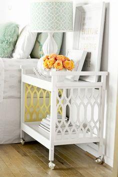 White and Gold Bar Cart - Other - Sarah Dorsey