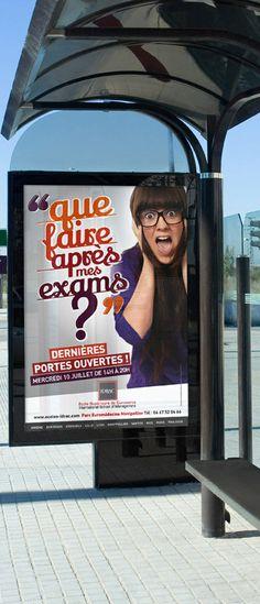 Campagne d'affichage  #affiche #idrac #sdc #supdecom #ecole #campus