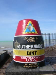 Southernmost point of Continental USA, only 90 Miles to Cuba.  WE went here to Key West with 2 couples, but didn't know it was the drag capital of the country.  Drag races don't involve cars; they involve men who look better than me in a miniskirt :(