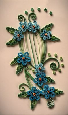 Greeting card  Quilling technique by MyFourSeasons on Etsy, $10.00