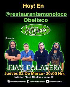 Hoy nos vemos en @restaurantemonoloco del Obelisco! 8PM todos invitados