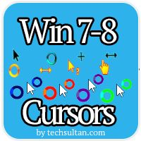 Custom cursors for windows 8 and 7.  All of them free : http://techsultan.com/windows-8-custom-cursors/