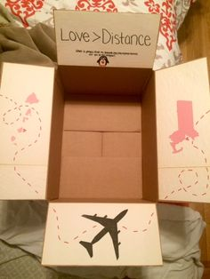 Valentine's Day package :) #valentines #day #boyfriend #ldr #long #distance #relationship #hawaii #massachusetts #care #package #box #diy #crafts #gift #idea #love