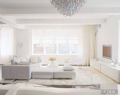 All White Living Room cream white living room and metallics decor | living room ideas