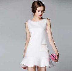 >> Click to Buy << Fashion Dress 2017 Spring Summer Brand Brief Plaid Beading Elegant Slim Fishtail Mermaid Ruffles Black White Party Dress 1168 #Affiliate