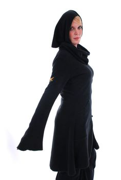 ~ Pippi Jacket ~  This stunning knee length Pippi Jacket is perfect for gothic goddesses, woodland faeries, cyber vixens and all girls that like to