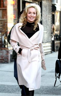 SHARON STONE QUITTING HOLLYWOOD - love that coat