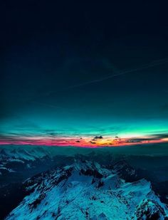 Mountain Sunset Wallpaper for iPhone 5