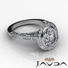 Bezel Halo Pave Set Oval Diamond Engagement Ring GIA F VS2 18K White Gold 3 2ct   eBay