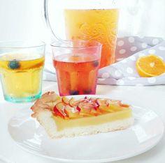 Crostata con crema di pesche e gelatina alla birra -  vegan - #Fabulousity #crostata #peaches #gelatina #birra #vegan #ricetta