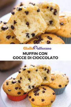 Milk Recipes, Real Food Recipes, Cake Recipes, Chocolate Chip Muffins, Mini Chocolate Chips, Cooking Forever, Good Food, Yummy Food, Pinterest Recipes
