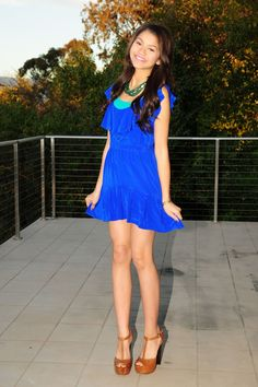Zendaya Coleman - Blue Dress Photoshoot Candids in LA