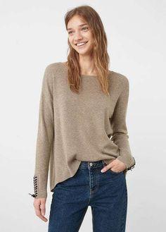 Mango Outlet Interwoven drawstring sweater
