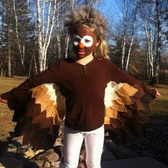 Homemade bird costume Pinned for Kidfolio, the parenting mobile app that makes sharing a snap.