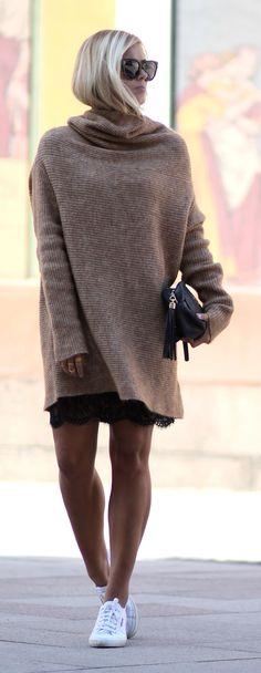 Oversized Sweater Streetstyle by Natulia