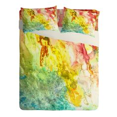 Rosie Brown Ray of light Sheet Set Lightweight | DENY Designs Home Accessories    #sheets #bed #bedsheets #bedroom #art #abstract #homedecor #decor #watercolor