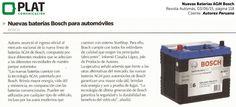Autorex Peruana: Lanzamiento de Baterías AGM de Bosch en la revista Automás (03/06/15)