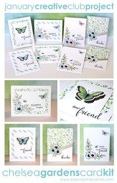Lisa's Creative Corner: January Project Kit - Chelsea Gardens Card Kit