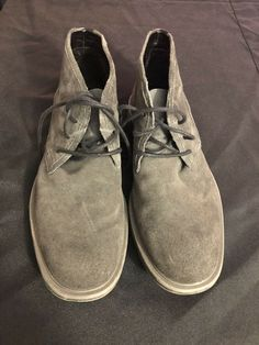 71e7056543b17c Calvin Klein ulysses mens dark gray high tops size 8.5 M suede with laces  nice