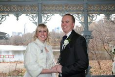 Katie and Reece, wedding ceremony in the Ladies' Pavilion, Central Park