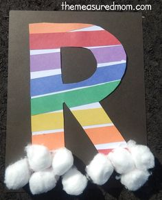 This page is a lot of letter R crafts for kids. There are letter R craft ideas and projects for kids. If you want teach the alphabet easy and fun to kids,you can use these activities.You can also find on this page template for the letter R. Preschool Letter Crafts, Alphabet Letter Crafts, Abc Crafts, Preschool Projects, Daycare Crafts, Alphabet Activities, Preschool Activities, Art Projects, Crafts For Letter A