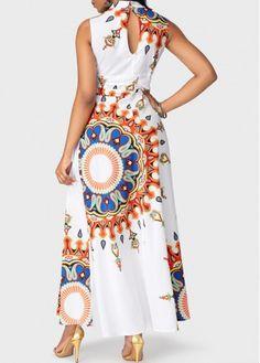 Sleeveless Print Sexy V-neck Dress – Wear Bikinis Cute Dresses, Casual Dresses, Online Dress Shopping, African Dress, Indian Dresses, Women's Fashion Dresses, Fashion Clothes, Style Fashion, Dress Brands
