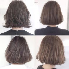 Prom Hair Medium, Medium Hair Styles, Curly Hair Styles, Short Hair Cuts For Women, Girl Short Hair, Short Bob Hairstyles, Hairstyles Haircuts, Korean Short Hair Bob, Dyed Blonde Hair