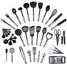 Ustensiles de Cuisine Set ustensiles de cuisine Gadgets 6 pièces y compris Porte-accessoires
