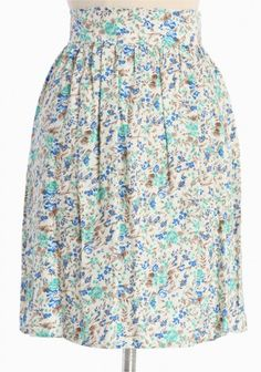 Maybe the blue is a bit too bright, but I love this skirt!