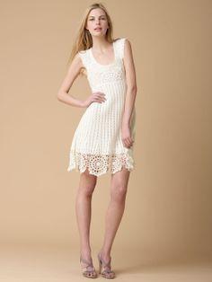Crochetemoda: Vestido Branco de Crochet XXIII
