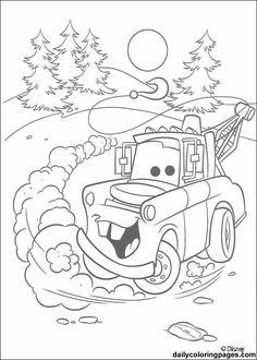 Top 10 Free Printable Disney Cars Coloring Pages Online Funny