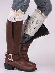 Irisruby Women Winter Boot Cuffs Fashion Button Down Short Leg Warm Knit Lace Shark Tank Leg Boot Cuffs Irisruby Women Winter Boot Cuffs Fashion Button Down Short Leg Warm Kn Knee Socks Outfits, Elf Boots, Crochet Boots, Knit Lace, Lace Socks, Knit Socks, Winter Socks, Stylish Boots, Boot Cuffs