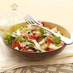 Chicken BLT Salad with Buttermilk Dressing | Easy, Healthy Dinner ...