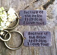 Brother of the Bride Gift Brother Wedding by EverythingDecorated ...