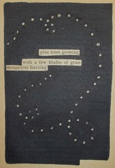 Buzzzz | Black Out Poetry | C.B. Wentworth
