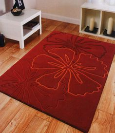 Modern Interior Design and Home Improvement Throw Rugs, Red Rugs, Floor Rugs, Red Floral Area Rug, Cheap Kitchen Rugs, Home Improvement, Rugs, Modern Interior Design, Area Rugs