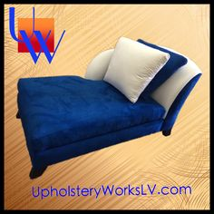 Chaise lounge: Furniture, modern, contemporary, abstract, blue: Upholstery by Upholstery Works in Las Vegas. http://UpholsteryWorksLV.com