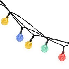 Led String Light, BOYON Solar Fairy, Starry Lights Best for Outdoor, Garden, Patio, Party (2 Lighting Modes, 19.7ft, 30 Led, Colorful) ** Discover this special deal, click the image : Seasonal Lighting for Christmas
