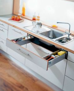 using Levittown sink would there be space on sides and front for a shallow drawer? ie is there enough room to wrap around single sink? #kitchendesign