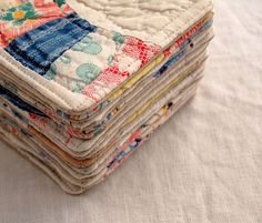 coasters made from vintage cutter quilt